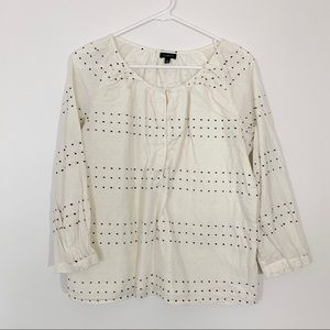 Long sleeve spotted top | buttons | Talbots